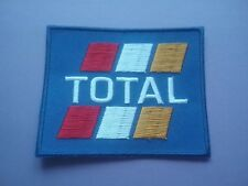 MOTOR RACING OILS FUELS & TYRES SEW ON & IRON ON PATCH:- TOTAL