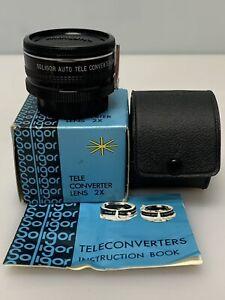 Soligor Auto Tele Converter 2X To Fit Minolta-MD w caps & Carrying Case w/Box