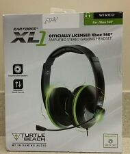 Turtle Beach Ear Force XL1 Headsets For Microsoft Xbox 360 -Black/Green open box