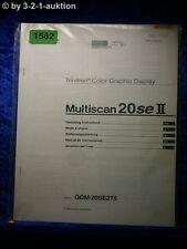 Sony Bedienungsanleitung GDM 20SE2T5 Multiscan 20se II Graphic Display (#1582)