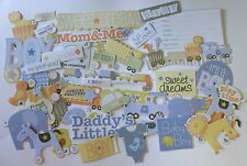NO 018 Scrapbooking - 60 Die Cut Baby Boy Embellishments - Scrapbook Craft
