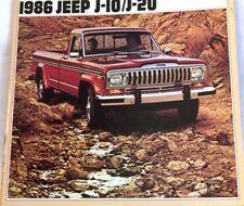 1986 86 Jeep J10 & J20 Pickup original  brochure MINT