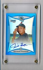 GIANCARLO MIKE STANTON 2008 BOWMAN CHROME BLUE REFRACTOR RC AUTO #132/150