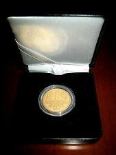 1 Deutsche Mark GOLD mit 24 Karat hochwertig vergoldet in Münzbox und Kapsel