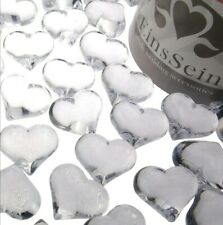 EinsSein 100x Acrylic Diamonds Hearts crystals sparkling 22mm clear table...