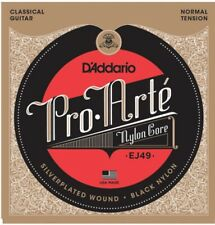 D'Addario EJ49 Pro-Arté Black Nylon Normal Tension Classical Guitar Strings