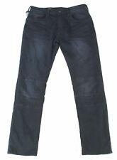 Buffalo David Bitton Mens Max-X Moto Jean Blue USA 40x32 Skinny Stretch $99 142