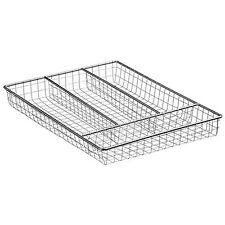 Cubiertos De Cocina Cromo Cajón almacenamiento caja bandeja Utensilio 4 compartimentos organizador