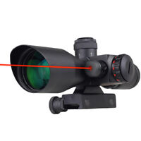 Professional 2.5~10X 40mm Dot Reticle Red Laser Sight Rifle Scope w/ Mount New