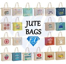Jute Shopping Bag Hessian Large & Small Eco Reusable Gift Tote Lunch Handbag