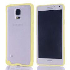 Coque bumper bi-matière TPU pour Samsung Galaxy Note 4 -  Jaune Pastel