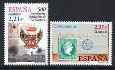 España 2005 estampillada sin montar o nunca montada SG4137-38 Aniversarios