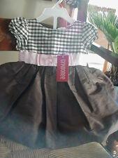VHTF Vintage Gymboree BROWN /PINK HOLIDAY DRESS 3-6