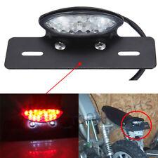 Cafe Racer Motorcycle Rear License Plate Brake Stop Tail Light Black Bracket US