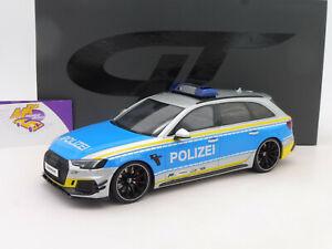 "GT Spirit GT817 # Audi ABT RS4-R Avant Einsatzfahrzeug "" Polizei "" 1:18 NEU !!"