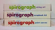 3xNIB SPIROGRAPH kits String Art / Scrapbook Kit / Paint Canvas Vintage toy Gift