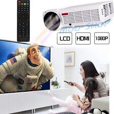 5000 Lumens LED96 Projector HD 1080P LCD 3D Home Cinema HDMI AV USB VGA TV PC