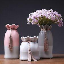 European Ceramic Vase Ornaments Lotus Leaf Fringed Water Culture Vase Decoration