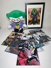 DC Comics THE JOKER Bundle With Framed Poster Plush Toy & x6 Batman Comic Books
