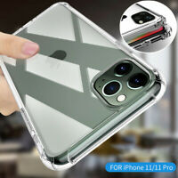For iPhone 11 Pro XS Max XR X 7 8 Plus Slim Shockproof Silicone Clear Case Cover