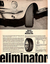 1965-1966 FORD MUSTANG SHELBY COBRA GT-350  ~  ORIGINAL ELIMINATOR TIRE AD