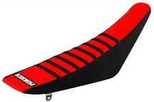Honda CR 85 2003 - 2007 Ribbed Gripper Seat Cover Black Red Black Ribs Motocross