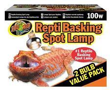 ZOO MED BASKING SPOT 100W VALUE PACK (2 PACK) - REPTILE LAMP