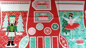Stuart Hillard Christmas Nutcracker Stocking Panel free P&P 100% cotton