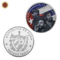 WR Pièce commémorative en argent plaqué argent 999 de Fidel Castro