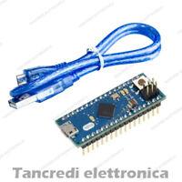 (Arduino-Compatibile) Micro cavo micro USB ATmega32U4 5V 16Mhz saldato scheda