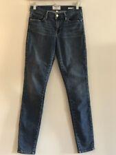 Frame Blue Denim Skinny De Jeanne Jeans - Size 28