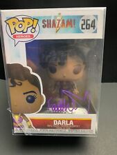 Funko Pop SHAZAM Darla Autographed by Faithe Herman BAM COA with Protector