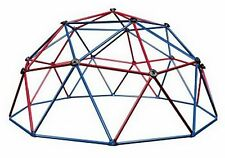 Dome Climber Playground Monkey Bars Playset Outdoor Jungle Gym Red Blue