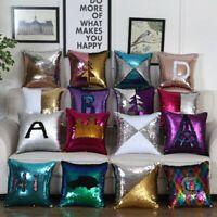 Two-color  Cushion cover Almohadas lumbares de lujo con lentejuelas para coche