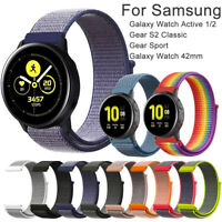 20mm Armband Nylon Loop Strap For Samsung Galaxy Watch Active 2 Gear S2