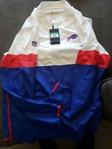 Nike Football Buffalo Bills Red/W/BL Half Zip Windbreaker AO4226 100 Size XL NWT