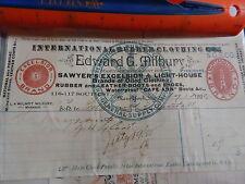 1893 International Rubber Clothing Co New York NY billhead