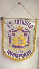 Vintage Fanion A.S Treguier Club Omnisports Bretagne Football Foot 35 cm x 25 cm