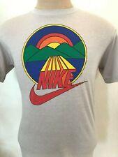 New listing Vtg Nike 80s Blue Tag Swoosh Rainbow Sunset Mountain T Shirt Men's Large Rare !