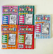 Lot of 5 Penny Press Jumble Puzzle Books Dell Variety Word Puzzles HARD TO FIND