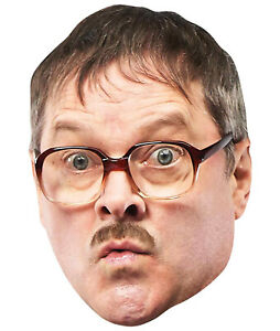Jim Bell Official Friday Night Dinner Single 2D Card Party Face Mask Mark Heap