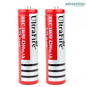 2x Lithium li-ion Accu ⭐ 18650 Akku ⭐ Batterien, Taschenlampe, 3,7V