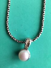 NEW! 18K Yellow Gold, Sterling Silver & Pearl Necklace/ EFFY / $405/