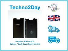 Genuine Nokia X3-02 Back Battery Cover Rear Housing Original Black