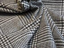 MOON Westminster Check 100% Lambswool Upholstery/Furnishings FABRIC By the Metre