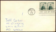 USA 1976, 9c Dome Of Capital, Definitive Coil Stamp FDC First Day Cover #C35933