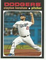 2020 Topps Heritage CLAYTON KERSHAW SP Action Image Variation Dodgers #385