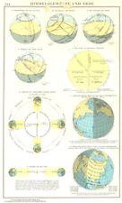 WORLD.Himmelsgewolbe Und Erde. Seasons geometry 1958 old vintage map chart