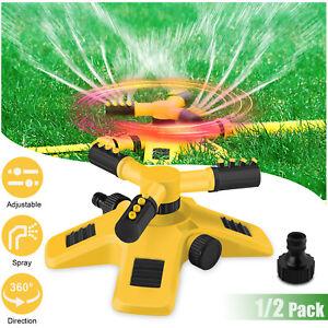 360 Auto Garden Lawn Sprinkler System Watering Patio Yard Hose Irrigation System