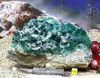 Fluorite Fluorspar Giant Crystal Cluster - Weardale UK Raw Natural Mineral 1.6kg